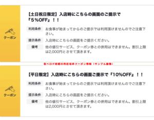 食べログ掲載の肉匠坂井クーポン情報(サンプル画像)