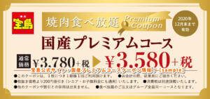宝島公式サイト・国産プレミアムコースクーポン情報!【sample】