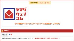 ヤマダ電機のベネフィットステーションクーポン配信情報!【sample】