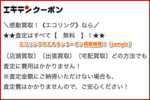 エコリングのエキテンクーポン掲載情報!【sample】