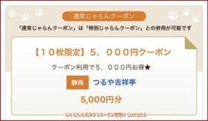 じゃらん 公式アプリクーポン情報!【sample】
